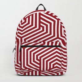 Ruby red - red - Minimal Vector Seamless Pattern Backpack