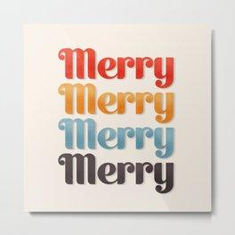 Merry typography Metal Print