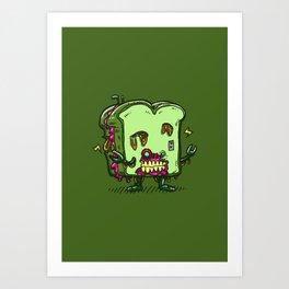Zombie Sandwich Bot Art Print