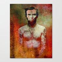 tatoo Canvas Prints featuring Abraham Tatoo by Joe Ganech