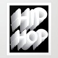 hip hop Art Prints featuring Hip Hop by Eleni Dreamel