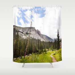 Into The Mountains Shower Curtain