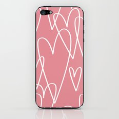 Doodle Hearts in Pink by Friztin iPhone & iPod Skin