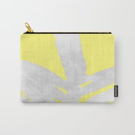 Green Fern on Lemon Yellow Inverted Carry-All Pouch