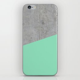 Concrete and Sea Color iPhone Skin