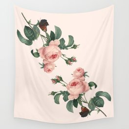 Butterflies in the Rose Garden Wall Tapestry