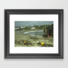 The beach at Gorran Haven  Framed Art Print
