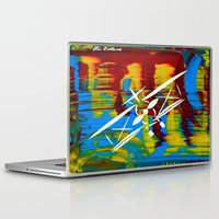 airplane Laptop & iPad Skins featuring Airplane by Lue Brentwood
