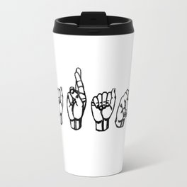 Harambe sign language (White) Travel Mug