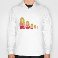 burlesque Hoodies featuring Blonde Burlesque stripper doll by Yana Elkassova