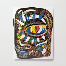 The Third Eye Primitive African Art Graffiti Metal Print