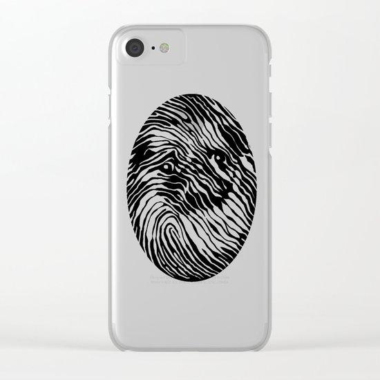 Fingerpug Clear iPhone Case