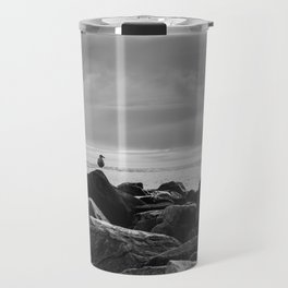 Morro Bay Black & White Travel Mug