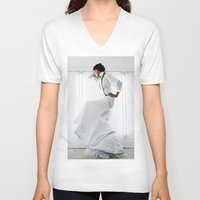 wedding V-neck T-shirts featuring Wedding by Anthracite