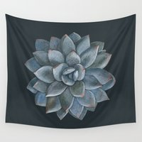 succulent Wall Tapestries featuring Succulent by Antonina Sotnikova