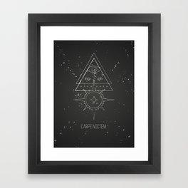 Carpe noctem Framed Art Print