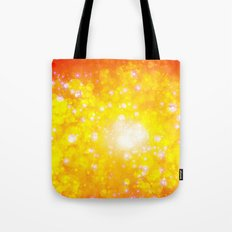 Shimmering Stars Orange Tote Bag