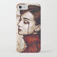 audrey hepburn iPhone & iPod Cases featuring Audrey Hepburn by Olechka