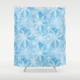 Blue Snowflakes #2 Shower Curtain