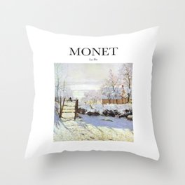 Monet - La Pie Throw Pillow