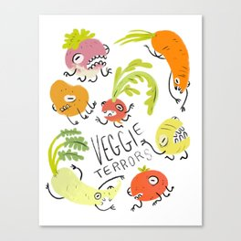 Veggie Terrors Canvas Print