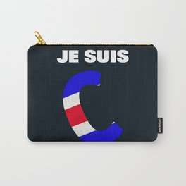 Je Suis Charlie #1  - Navy Alphabet Carry-All Pouch