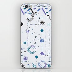 Ethnic and tribal motifs, zigzag lines, brushstrokes and splatters iPhone & iPod Skin