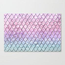 Mermaid Scales on Unicorn Girls Glitter #1 #shiny #pastel #decor #art #society6 Canvas Print