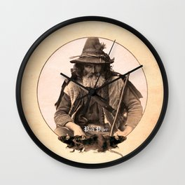 The Pied Piper (Plain Background) Wall Clock