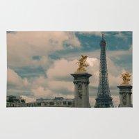 eiffel Area & Throw Rugs featuring Eiffel by Esteban Calderón
