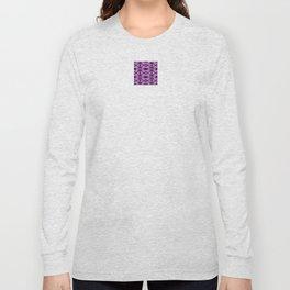 Snowflake II in Purples Long Sleeve T-shirt
