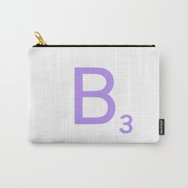 Scrabble Typography B in Purple Carry-All Pouch