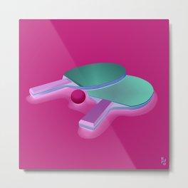 Play pingpong! Metal Print