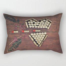 Bullet through the heart Rectangular Pillow
