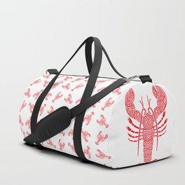 Tribal Maine Lobster on White Duffle Bag