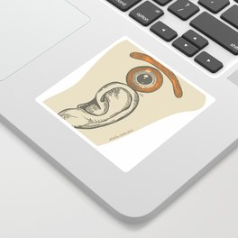 the eye over the ear Sticker