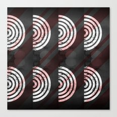 Target Record With Stripes Canvas Print