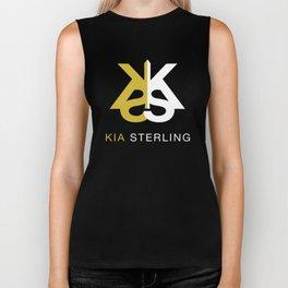 Kia Sterling Gold/White Biker Tank