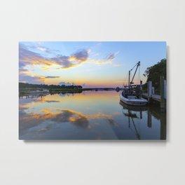 Sunset on Jones Creek II Metal Print