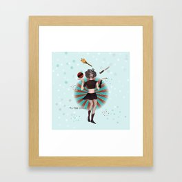 To the circus Framed Art Print