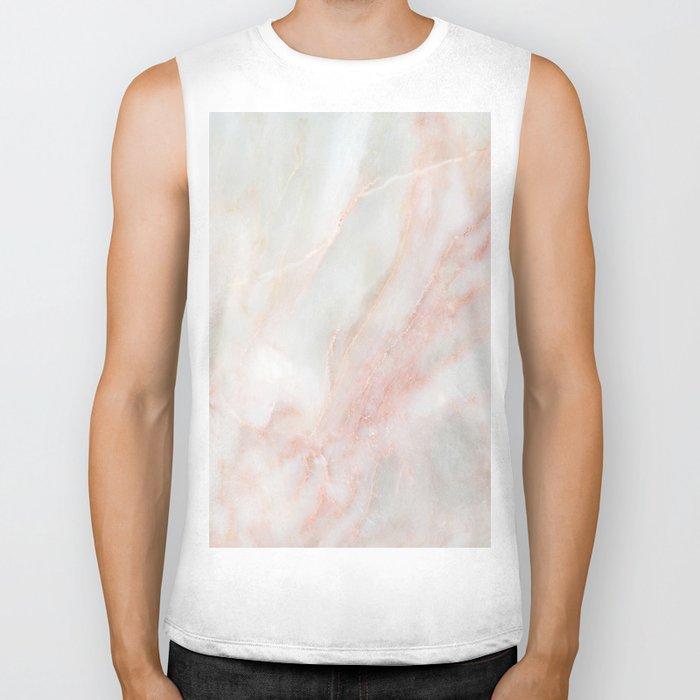 Softest blush pink marble Biker Tank