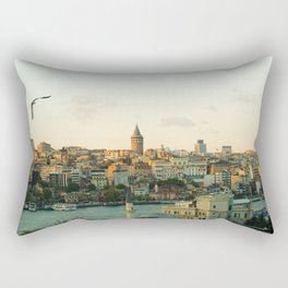 Istanbul Cityscape Photo Rectangular Pillow