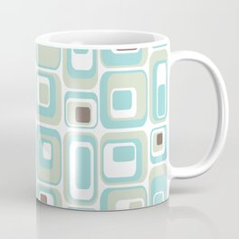 Retro Rectangles Mid Century Modern Geometric Vintage Style Coffee Mug