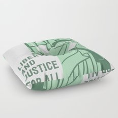 Liberty and Justice Floor Pillow