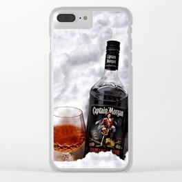 Ice Cold Captain Morgan Rum Clear iPhone Case