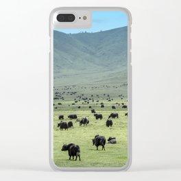 Tibetan Yaks in Sichuan, China Clear iPhone Case