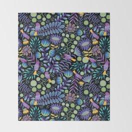 Thistle Garden - Dark Throw Blanket