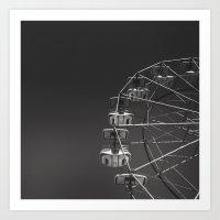ferris wheel Art Prints featuring Ferris Wheel by Daniel Uzupis