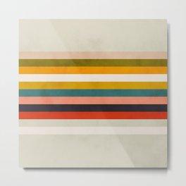 modern abstract stripe geometric Metal Print