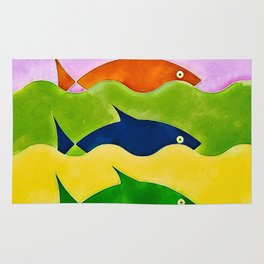 Colorful fishes Rug
